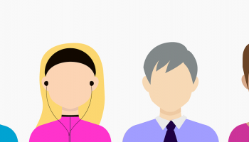 cartoon avatars of four different demographic groups
