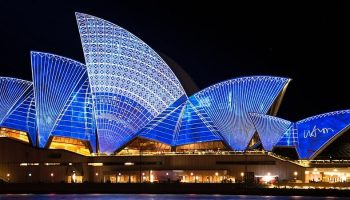 side view of the Sydney Opera House