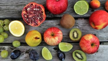 plant-based fruit on a wooden table