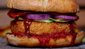 a vegetarian burger