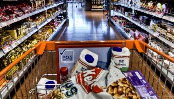 trolley in a supermarket