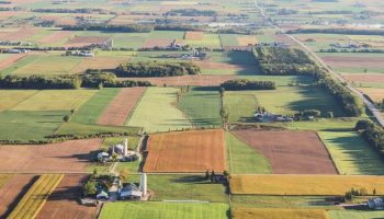 aerial photo of agricultural farm land