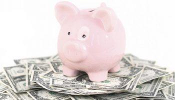 piggy bank on a pile of money