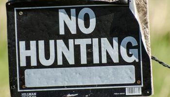 a no hunting sign