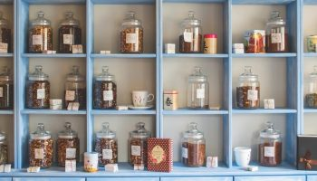 traditional chinese medicine on shelves