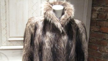 fur coat on a human manikin