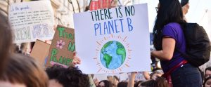 planet b protest sign