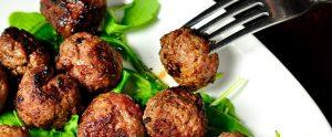 meatball on a fork