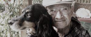 dog with older man