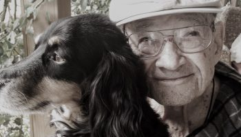 dog with older man