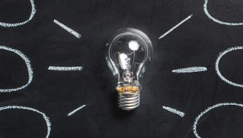 idea bulb blackboard