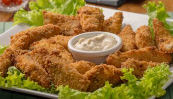 breaded meat strips