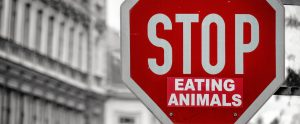 stop eating animals sign