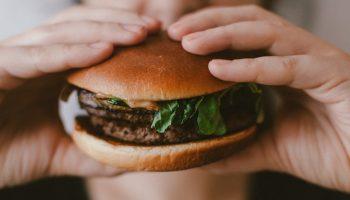 burger in hands