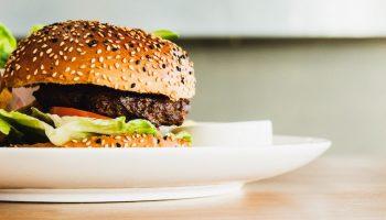 veggie burger left aligned