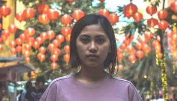chinese woman outside