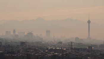air pollution over a city
